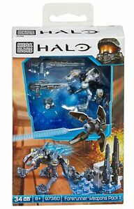 MEGA BLOKS HALO FORERUNNER WEAPONS PACK II 34 PIECES 97360 8+ BRAND NEW