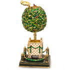 "5"" Faberge Egg. Bay Tree Musical Egg Plays Swan Lake. Made in Russia"