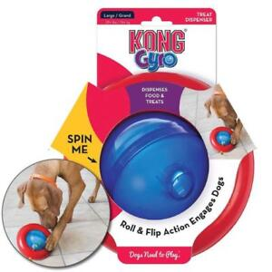KONG Gyro (Small & Large) Treat Dispensing Dog Toy Interactive Feeding Puppy Dog