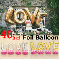 Love Letter 40'' Foil Wedding Engagement Party Balloons Silver Gold Letters