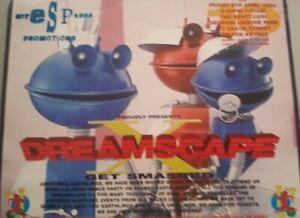 DREAMSCAPE 10  8/4/94 The Sanctuary Milton Keynes rave flyer