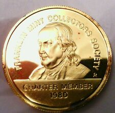 1980 Franklin Mint Collectors Society 24kt gold / sterling silver