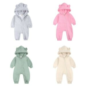 Infant Baby Romper Hooded Teddy Bear Tutu Jumpsuit Bodysuit Comfy Clothes Outfit
