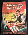 1921 AMERICAN BUILDER The World's Greatest Building Paper-Dec Great Pics Ads
