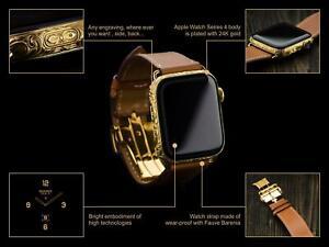 Custom by Aurum Edition Apple Watch Series 6 Hermes 44mm 24K Goldplated