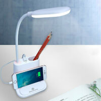 LED Night Light Eye-Caring Table Lamp Desk Lamp with USB Charging Port Reading