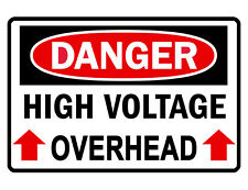HIGH VOLTAGE OVERHEAD Sign CUSTOM METAL SIGN Durable Aluminum NO RUST SIGN