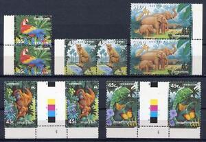 40351) AUSTRALIA 1994 MNH** Zoological garden 5v gutter pair