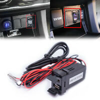 12V USB Port Charger/ Audio LED Indicator Adapter For Toyota Camry RAV4 Tundra