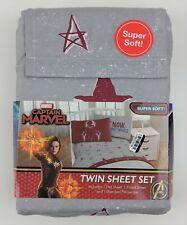 Marvel Captain Marvel Twin Sheet Set