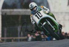 Mick Grant Hand Signed 12x8 Photo - Kawasaki Autograph MotoGP.