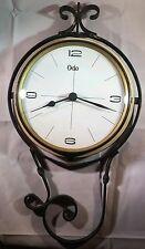 Pendule / horloge ODO vintage. Fer forgé, formica, intérieur blanc