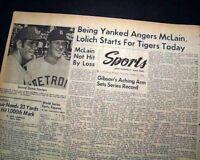 BOB GIBSON St. Louis Cardinals 17 STRIKEOUT World Series Baseball 1968 Newspaper