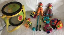 Parents~Bee Bop Band 10 Pc Musical Instrument Toys~Drum Stick/Tamborine/Maraca