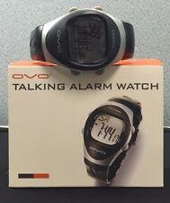 OVO Digital Unisex Talking Alarm Watch Black New Still n Original Manufacture OB
