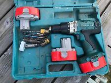 Makita 8444D Cordless Drill Used Hammer Drill With 3 Batterys