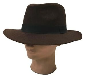 Outback Ranger Aussie Felt Western Cowboy Fedora Dress Bucket Brown  Hat Cap