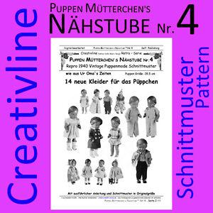 Schnittmuster Puppenkleidung  Nähstube Nr.4 für 13 Puppenkleider