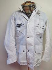 Vintage BELSTAFF  Nylon Motorcycle Biker Jacket UK 14 Euro 42- Cream
