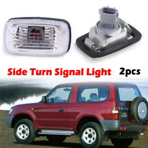 2x Clear Side Marker LED Signal Light For toyota Land Cruiser fj100 LC100 98-05