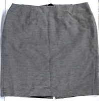 40ad80ea2ca Talbots Womens 18W Skirt Navy Blue White Strips Cotton Lined Short Back Slit