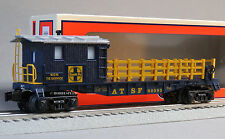 LIONEL AT&SF TIE WORK CABOOSE ILLUMINATED  gauge train rail ties lighted 6-82093