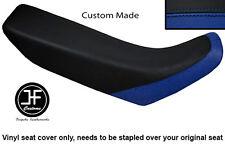 ROYAL BLUE & BLACK VINYL CUSTOM FITS HONDA XR 250 400 96-04 SEAT COVER ONLY