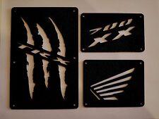 Honda TRX 700 XX 700XX Fender Warning Tags Black /NO decal