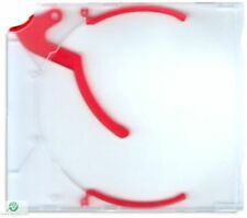 100 CD DVD e-slimcase Estrattore Custodia Con Rosso trigger per 1 disco Slimline NUOVO HQ