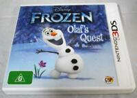 Frozen Olaf's Quest Nintendo 3DS 2DS Game  *Complete*