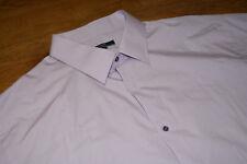 "George - Mens Shirt - Light Purple Lilac Plain - 18.5"" - Long Sleeved"