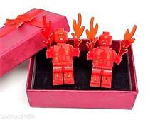Handmade, LEGO® Marvel Human Torch Super Hero Cufflinks, Gift Boxed!