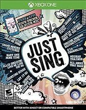 Just Sing (Microsoft Xbox One, 2016) **NEW** Free Shipping Works with Kinect