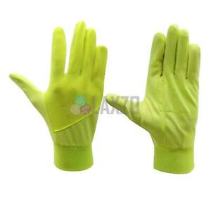 Bicycle Hi-Viz Fluroscent Hand Gloves Boys Girls Cycling Running Yellow gloves L