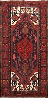 3x5 Geometric Hamedan Hand-knotted Area Rug Tribal Wool Oriental Kitchen Carpet