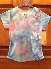 NEW! Kids' Champion Athletic shirt, XS 4-5, tie-dye print, beach, short sleeve
