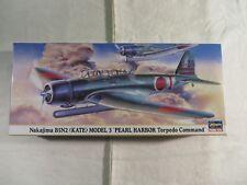 Hasegawa 1:72 Nakajima B5N2 Pearl Harbor Torpedo Command Model Kit 00605 Open