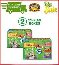 New listing Premium Purina Friskies Wet Cat Food (2 Packs of 12) 5.5 oz. Cans, Pate.