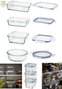 Food Glass Containers Food Storage Microwave Dishwasher Safe Stackable Lids IKEA