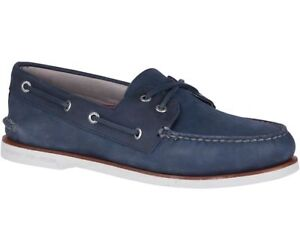 SPERRY GOLD CUP CROSS LACE SHOE - NAVY; GRAY