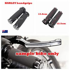 "RSD Black CNC 1"" handlebar handgrips Harley Electra Glide Ultra Classic EFI FLH"