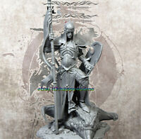 Unpainted 75mm Ancient Warrior Stand With Shield Resin Figure Model Unassambled