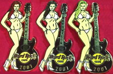 Hard Rock Cafe GATLINBURG MEMPHIS & NASHVILLE 2007 TENNESSEE TRIPLET PIN Girls