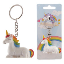 Rainbow Unicorn Key Ring