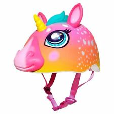 RASKULLZ RAINBOW UNICORN 3D SHAPED SAFETY HELMET BIKE KIDS GIRLS 50cm - 54cm