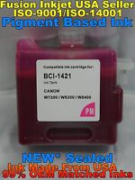 Cartridge fits BCI-1421 Canon W8200PG W8400 Photo Magenta pm pigment ink not oem