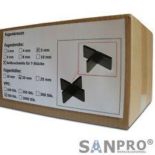 500 Stk. Fugenkreuze 5mm für Terrassenplatten Bodenplatten Fliesenkreuze 5 mm