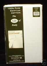 500 TC 100% Egyptian Cotton Percale Double Bed Size Flat  / Top Sheet - WHITE