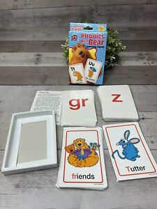 BEAR IN THE BIG BLUE HOUSE Phonics With Bear Learning Flash Cards Laminated Rare