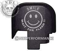 for Smith Wesson Rear Slide Back Plate SHIELD S&W 9 40 BLK Smile Wait Flash 5